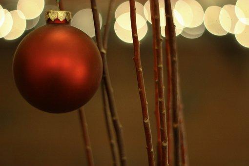 Bokeh, Christmas Lights, Christmas, Holiday, December