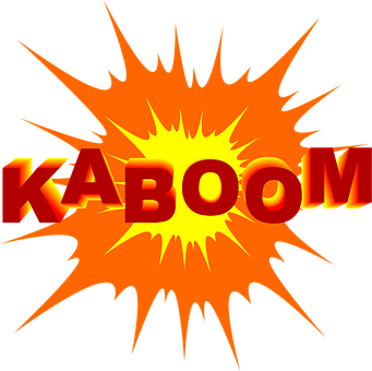 Kaboom, Boom, Explosion, Symbol, Cartoon, Flash, Burst