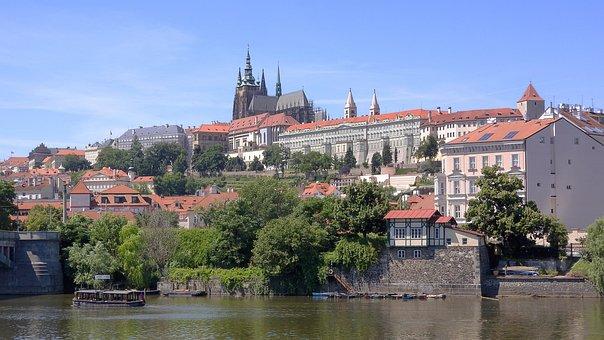 Prague Castle, Prague, Panorama, A Small Party, Castle