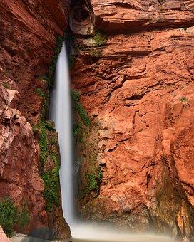 Deer Creek Falls, Grand Canyon, Waterfall, Pool, Water