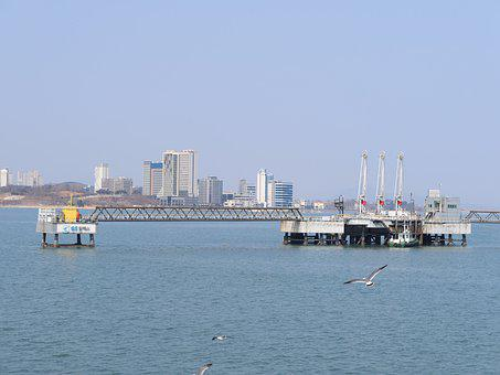 Sea, Oil, Industry, Energy, Fuel, Platform, Drilling