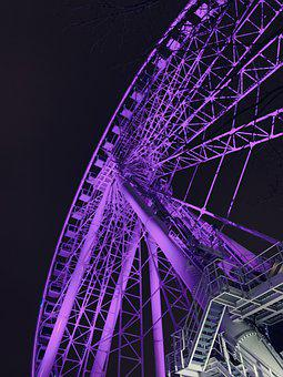Ferris Wheel, Park, Entertainment, Ride, Colourful