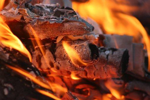 Flames, Fire, Flame, Fireplace, Glow, Campfire, Orange