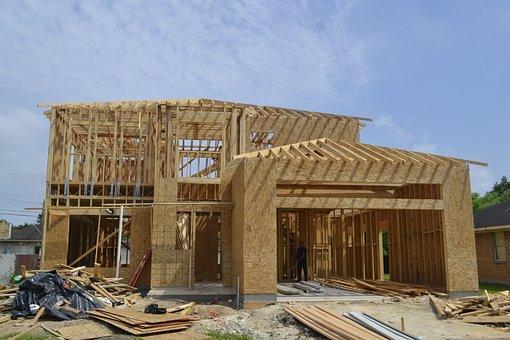 House, Home, Wood, Frame, Skeletal, Exterior, Beginning