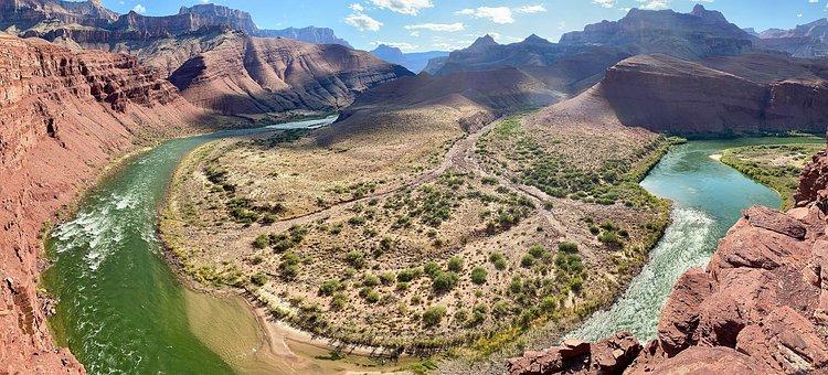 Grand Canyon, Unkar Delta, Colorado River, Desert