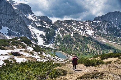 Hiker, Mountains, Alps, Adventure, Landscape, Nature