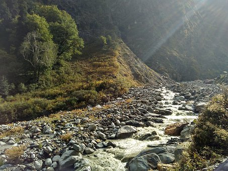 River, Hill, Landscape, Nature, Water, Mountains