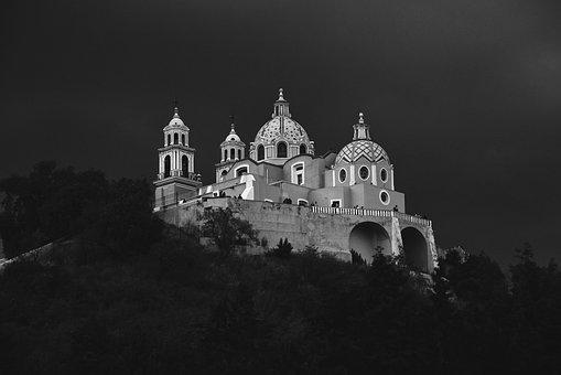 Mexico, Puebla, Cholula, Churches, Magical Towns