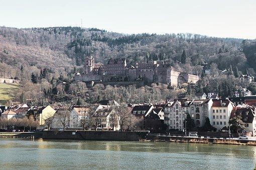 Castle, Heidelberg, Neckar, Germany, Southern Germany