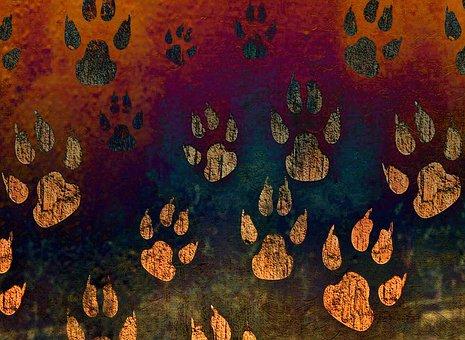 Paw Print, Pattern, Rusty, Dog, Paw, Animal, Pawprint