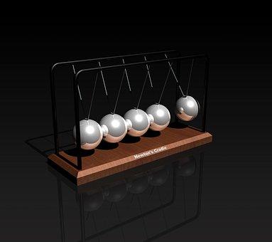Newton's Cradle, Toy, Balls, Science, Pendulum, Physics