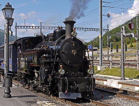 Steam Locomotive, Rack Railway, Railway Station