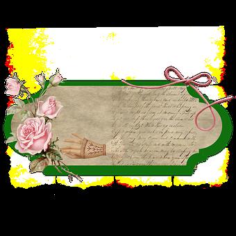 Label, Parchment, Ornamental, Scripture, Scrapbook