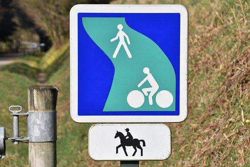Sign Post, Signalling, Indication, Footpath, Equestrian