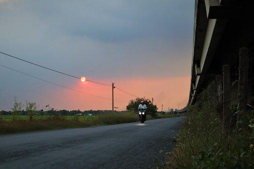 Sunset, Dusk, Hometown, Nature, Sky, Landscape, Calm