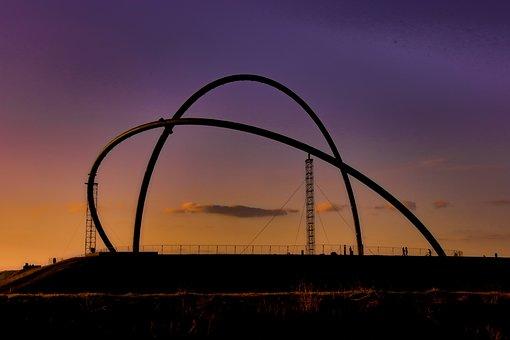 Coal Mine, Sunset, Dump Hoheward, Industry, Coal Pot