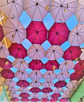 Umbrella Roof, Summer, Sighisoara City, Vintage City