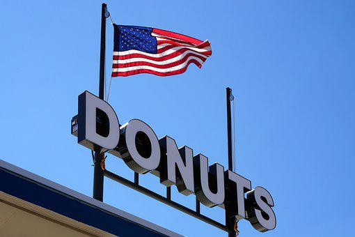 Usa, United States, Donuts, Flag, America, Doughnut