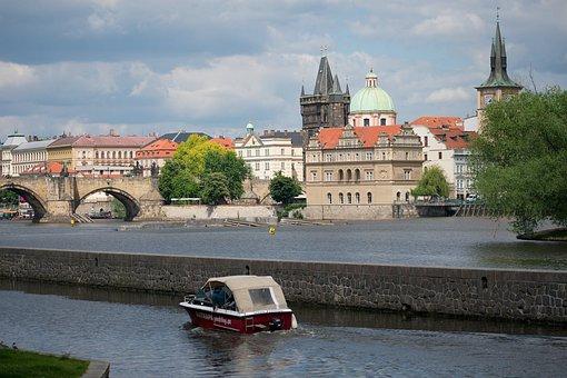 Prague, Vltava, Ship, River