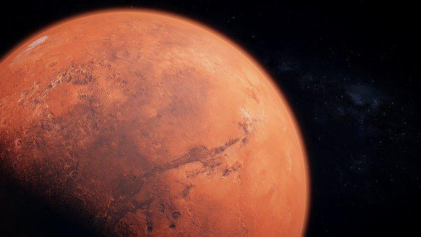 Mars, Planet, Space, Sky, Astronomy, Science, Stars