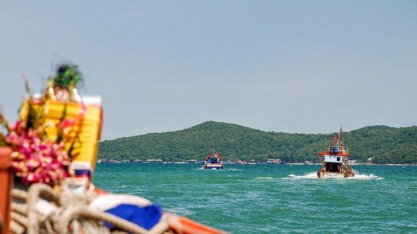 Ko Samet, Thailand, Boat, Ocean, Water, Tropical