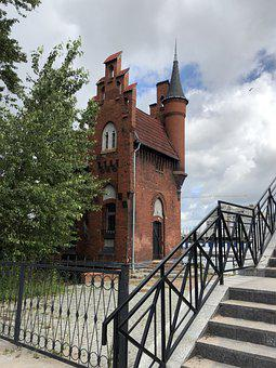 Bridge, Quay, Building, Landmark, Kaliningrad, Russia