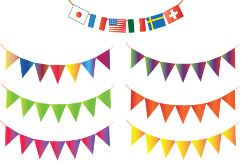 Bunting, Banners, Garlands, Party, Celebration