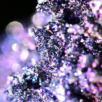 Carborundum, Crystal, Stone, Glitter, Rainbow, Purple