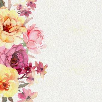 Digital Paper, Floral, Pattern, Vintage, Border, Frame