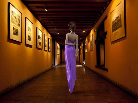 Fashion, Woman, Museum, Girl, Female, Shoulders, Dress