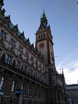 Germany, Building, City, Hamburg, Europe, Historical
