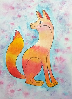 Fox, Animals, Illustration, For Children, Tales, Cute