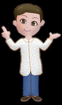 Kawaii Boy, Manga, Anime, Pointing, Man, Drawing, Kid