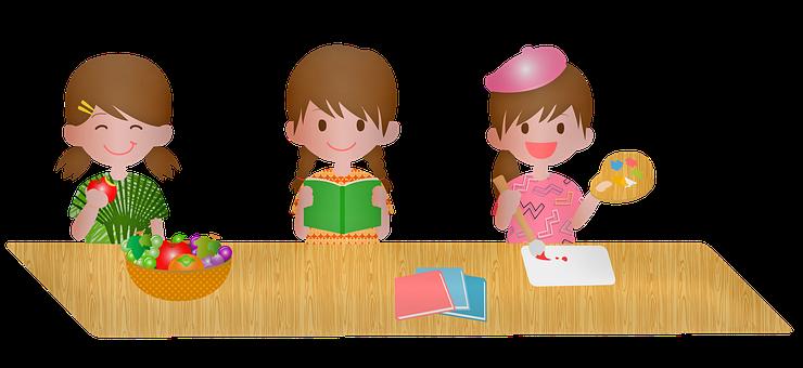 Kawaii Girl, Anime, Moe, Manga, Girls, Cartoon