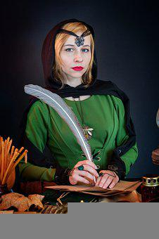 Woman, Model, Portrait, Costume, Cosplay, Magic, Witch