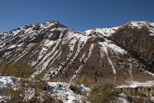 Mountains, Mountain, Central Asia, Kyrgyzstan, Snow