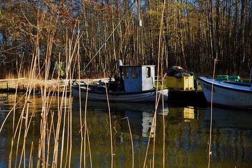 Nature, Fishing Boat, Water, Denmark