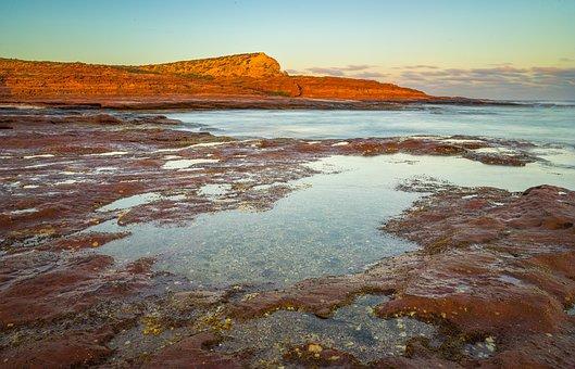 Landscape, Sunrise, Coast, Sea, Ocean, Water, Rocks