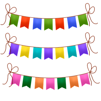 Bunting, Banners, Colorful, Garland, Party, Celebration