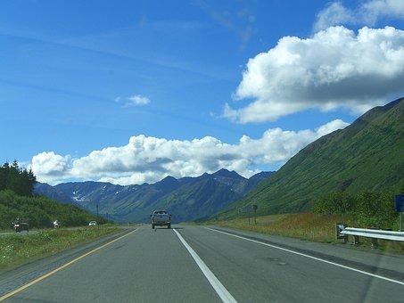 Alaska, Cloud, Road