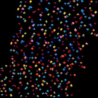 Confetti, Scatter, Party, Celebration, Decorative