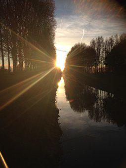 Sunset, Sunshine, Landscape, Nature, Sky, Outdoor