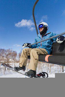 Snowboard, Chairlift, Winter, Snowboarding, Skiing
