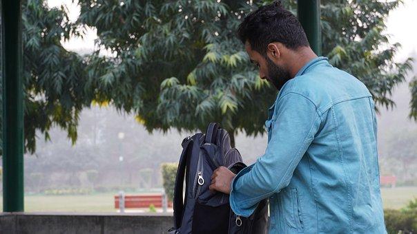 Student, Campus, University, Books, Bag, Textbook