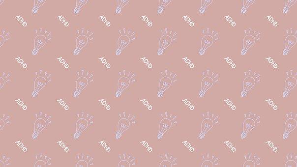 Light Bulb, Adhd, Pattern, Background, Disorder