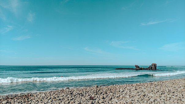 Beach, Coast, Rocks, Sea, Ocean, Water, Wave, Stones