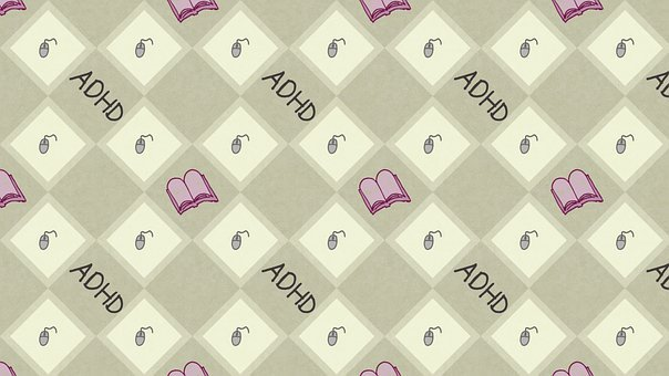 Books, Adhd, Pattern, Background, Computer Mouse