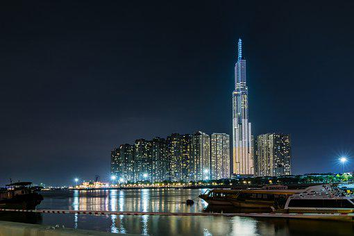 City, Buildings, Illuminated, Tower, Skyscraper