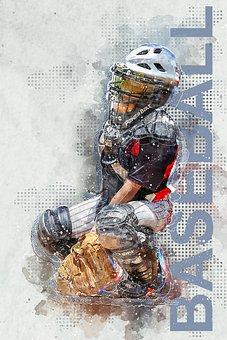 Baseball, Catcher, Player, Sport, Plate, Athlete