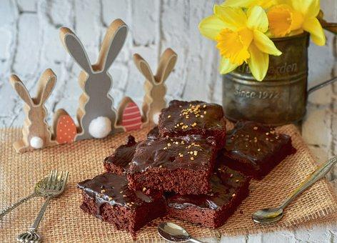 Brownies, Dessert, Pastry, Baked, Food, Snack